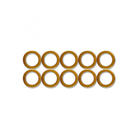 COPPER CRUSH WASHERS - 8MM (10 PACK)