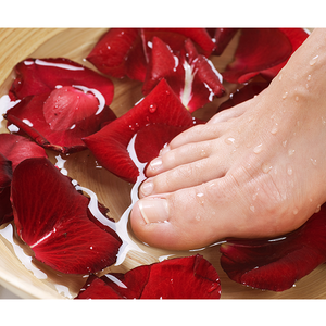 Rose Spa Pedicure Set: 4-Step Procedure at Home or Salon Package