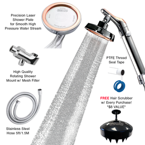 High Pressure Nano Tech Handheld Shower Head (Free Shower Scrubber)