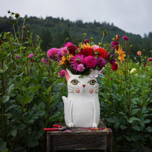 Load image into Gallery viewer, Pretty Kitty Clock & Planters