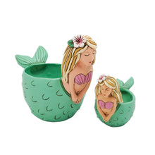 Load image into Gallery viewer, Shelley Mermaid Clock & Planters