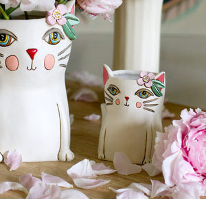 Pretty Kitty Clock & Planters