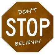 "Don't Stop Believin 10""x 10"""