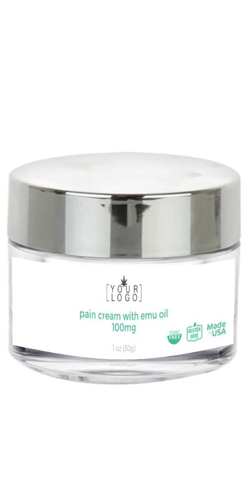 100mg Pain Cream with Emu Oil - Mint Blend