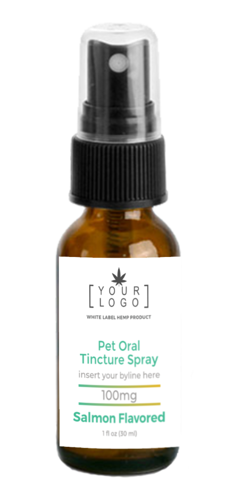 100mg Pet Oral Tincture Spray - Salmon