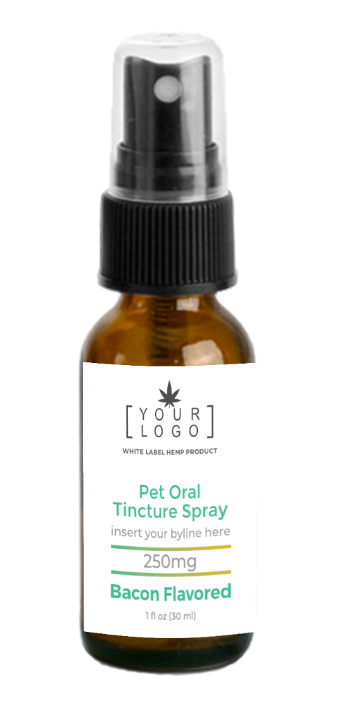 250mg Pet Oral Tincture Spray - Bacon