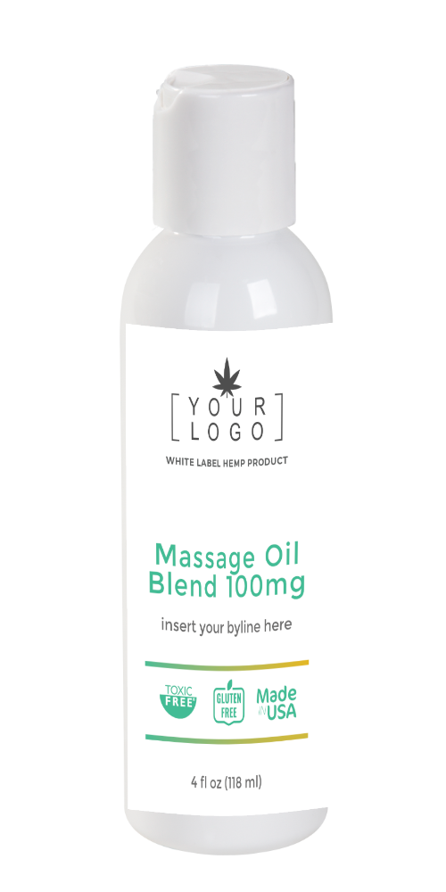 100mg Massage Oil Blend - Relaxing Blend (Sample)