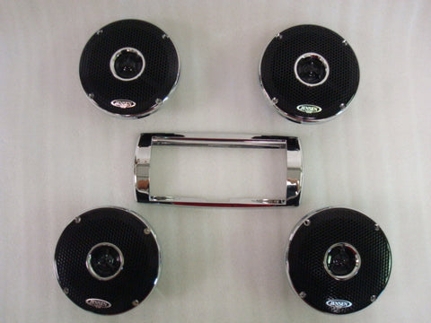 Chrome Speaker Rings Set