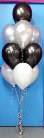 10 Metallic Balloon Arrangement - Stacked
