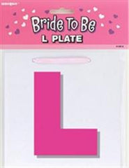 "Bride To Be ""L"" Plate"