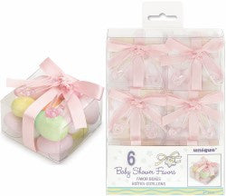 Baby Shower Pink Favour Boxes (6 Pack)