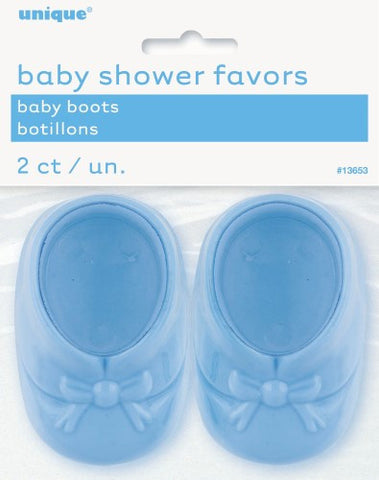 Baby Shower Baby Boots - Blue (2 pack)