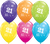 21st Birthday Latex Balloons - (6 pack)