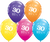 30th Birthday Latex Balloons - (6 pack)