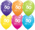 50th Birthday Latex Balloons - (6 pack)