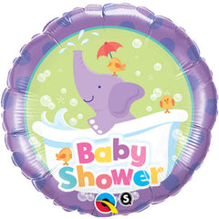 Baby Shower Elephant Foil Balloon - 46cm