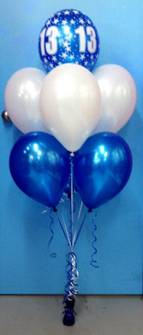 13 Print & 6 Metallic Balloon Arrangement - Stacked