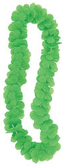 Luau Party Flower Lei Lime Green