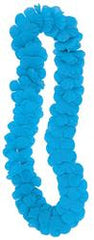 Luau Party Flower Lei Teal Blue