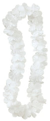 Luau Party Flower Lei White