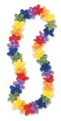 Luau Party Flower Lei Rainbow