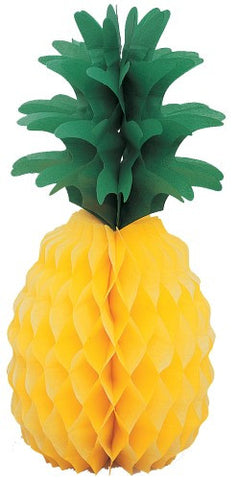 Luau Party Pineapple Honeycomb Centrepiece - 35.5cm