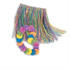 Luau Party Child Hula Skirt & Lei Set