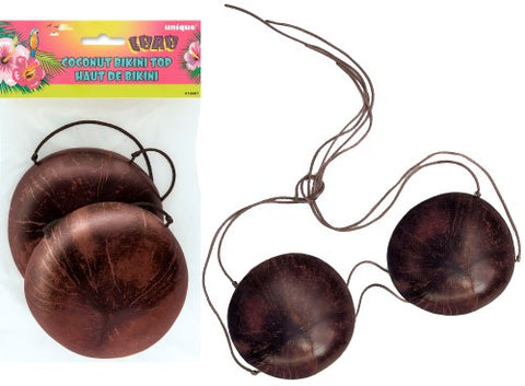 Luau Party Coconut Bikini Top