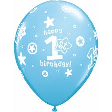 1st Birthday Circle Stars - Boy (8 pack)