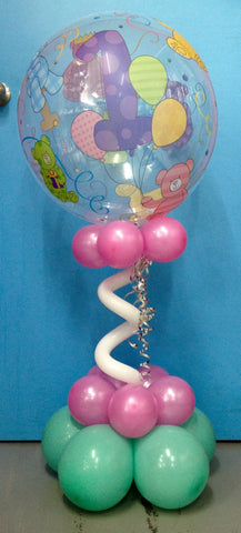 1st Birthday Bubble Arrangement
