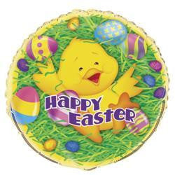"""Happy Easter"" Easter Ducky Foil Balloon"
