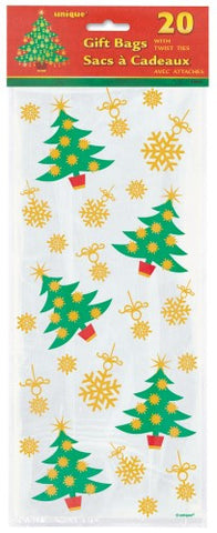 Golden Xmas Tree Cellophane Bags (20 pack)