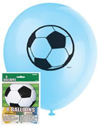 Soccer Printed Latex Balloons (8 pack)