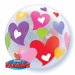 "Colourful Hearts Bubble - 22""/56cm"