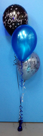 2 Print & 1 Metallic Balloon Arrangement - Staggered