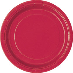 Red Paper Dinner Plates (8 pack)