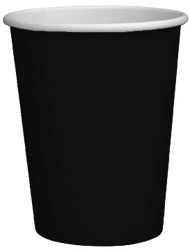 Black Paper Cups 270ml (8 pack)
