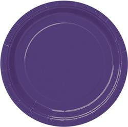 Purple Paper Snack Plates (8 pack)