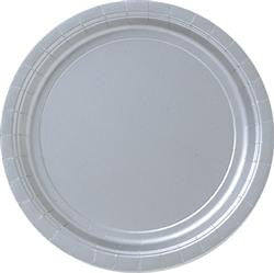 Silver Paper Snack Plates (8 pack)