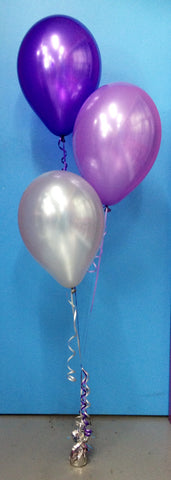 3 Metallic Balloon Arrangement - Staggered