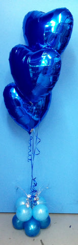 3 Foil Balloon Arrangement - Staggered On Spray