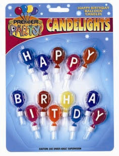 Happy Birthday Balloon Candles