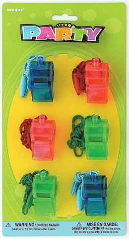 Sports Whistles (6 pack)