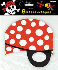 Pirate Fun Party Masks (8 pack)