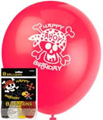 Pirate Fun Printed Latex Balloons (8 pack)
