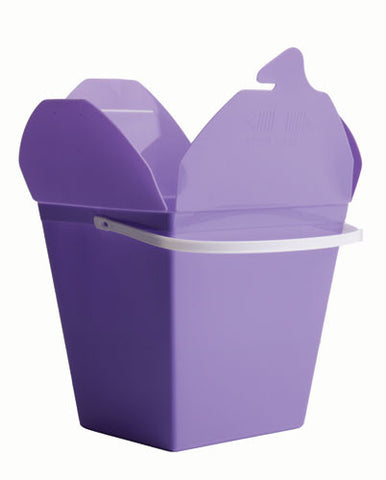 Lilac Plastic Noodle Boxes - Small (5 pack)