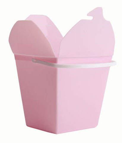 Classic Pink Plastic Noodle Boxes - Small (5 pack)