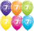 7th Birthday Latex Balloons - (6 pack)
