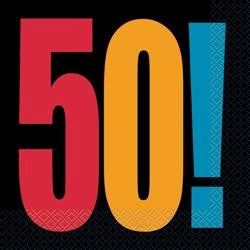 50th Birthday Luncheon Napkins - 16 pack