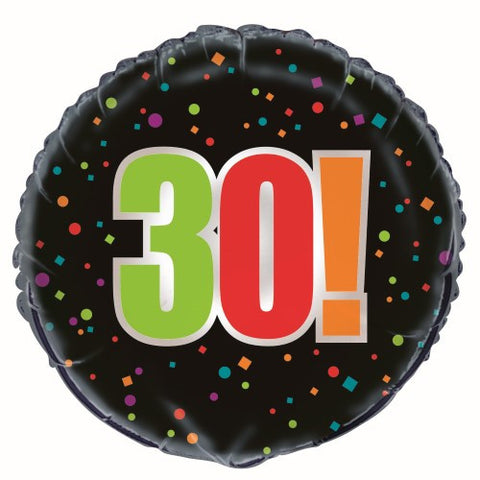 30th Birthday Cheer Foil Balloon - 46cm